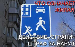 Движение в жилых зонах – правила