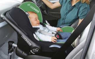 Удерживающие устройства для перевозки детей в автомобиле