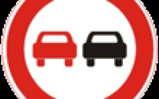 """Знак """"Обгон запрещен"""" — зона действия дорожных знаков, запрещающих и разрешающих обгон"""