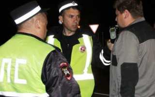 Наказание и штраф за езду в нетрезвом виде